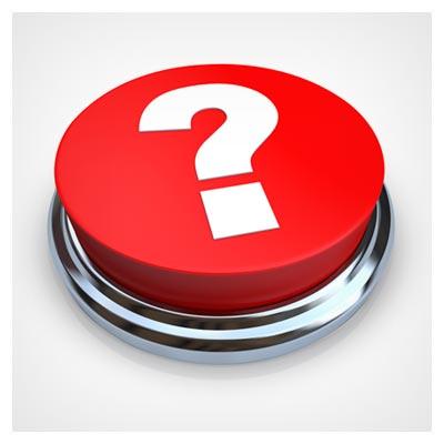 عکس یک علامت سوال بزرگ درج شده بر روی یک دکمه بزرگ قرمز