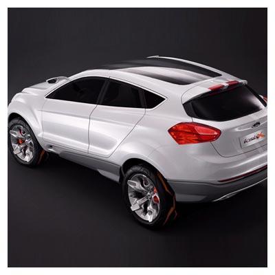 دانلود عکس با کیفیت خودروی فورد iosis از نمای پشت به رنگ سفید