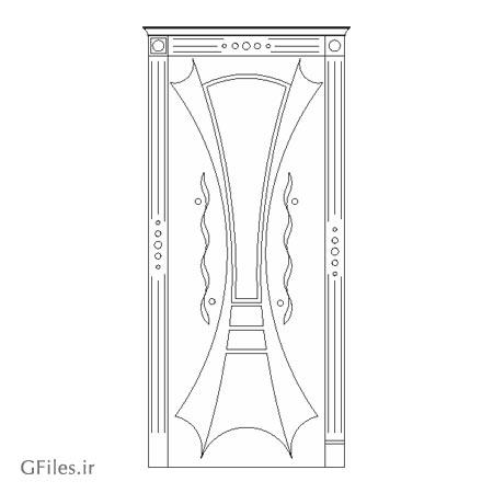 طرح آماده مناسب برای حکاکی یا برش لیزر روی درب چوبی یا فلزی