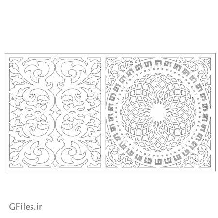 فایل لایه باز المان های مربعی تذهیبی و تزئینی مناسب برای حک یا برش لیزر