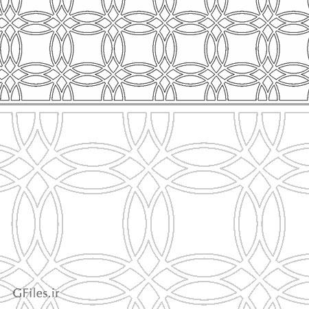 طرح مشبک ستونی اسلامی مناسب برای حک یا برش لیزر (dxf و cdr)