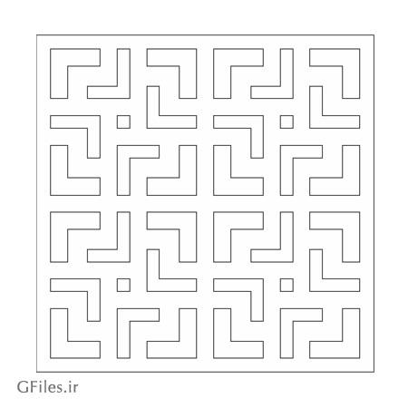 طرح لیزر و cnc مربعی مناسب برای حکاکی یا برش لیزر