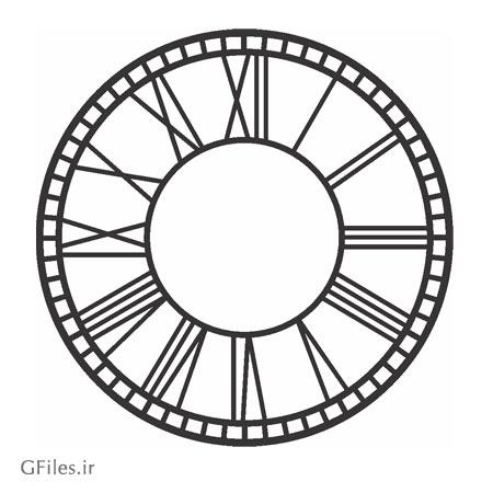 طرح لیزری و cnc ساعت دیواری مناسب برای برش لیزری یا حک (cnc)