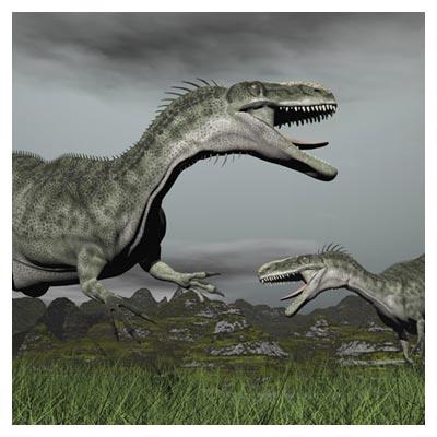 عکس دایناسور خاکستری گوشتخوار وحشی غول پیکر