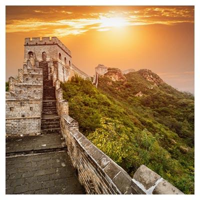 عکس دیوار بزرگ چین در طلوع خورشید با فرمت jpg