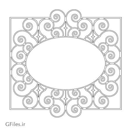 طرح لیزر قاب و فریم مناسب برای قاب آیینه ، ارائه شده با فرمت dxf و cdr