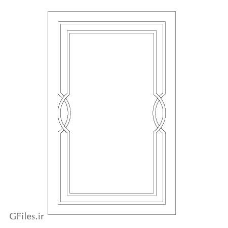 طرح قاب مانند جهت برش لیزر یا حک و cnc روی درب های چوبی یا فلزی