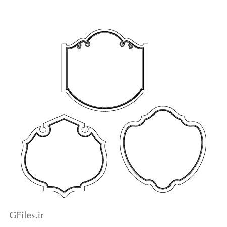 دانلود سه المان قاب تزئینی مناسب برای حک یا برش لیزر و cnc