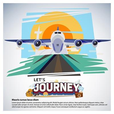 دانلود طرح لایه باز بکگراند کارتونی پرواز هواپیما ارائه شده با دو فرمت ai و eps