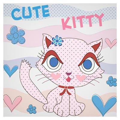 دانلود فایل وکتوری بکگراند کارتونی گربه خال خالی ارائه شده با دو فرمت ai و eps