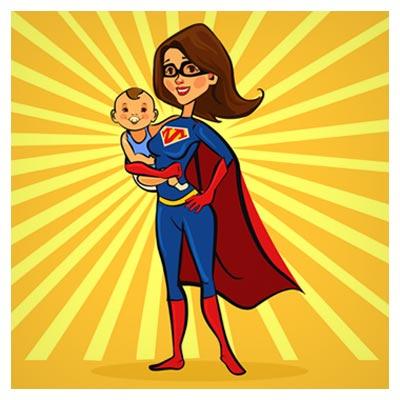 دانلود فایل وکتوری کاراکتر کارتونی زن مرد عنکبوتی با فرزندش قابل اجرا در کلیه نرم افزارهای گرافیکی