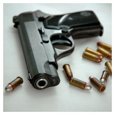 دانلود رایگان تصویر هفت تیر و گلوله های آن ارائه شده با فرمت jpg
