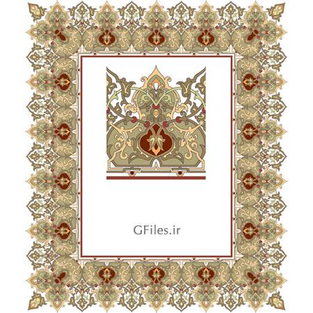 فایل وکتوری لایه باز مذهبی زیبا و هنرمندانه برای طراحی تذهیبی