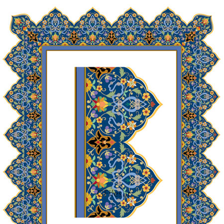 دانلود فایل طراحی مذهبی آبی لایه باز وکتوری ai و esp