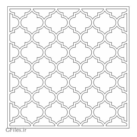 طرح مشبک اسلامی مناسب برای حک ، برش لیزر و سی ان سی با فرمت های dxf و cdr