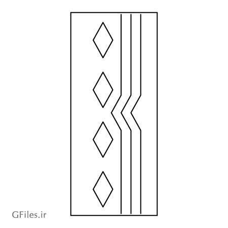 طرح ساده جهت برش لیزر یا cnc روی در چوبی یا فلزی با دو فرمت cdr و dxf