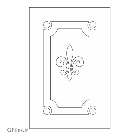 طرح لایه باز المان تزئینی برای درب ارائه شده با دو فرمت dxf و cdr