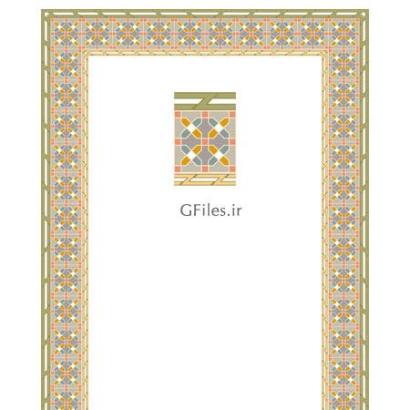 دانلود فایل لایه باز با طراحی مذهبی و تذهیبی برای کتب نفیس سنتی و قرآن