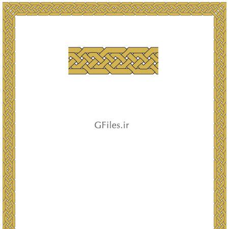 دانلود فایل  ai و eps وکتوری تذهیبی برای گوشه قرآن و کتب اسلامی