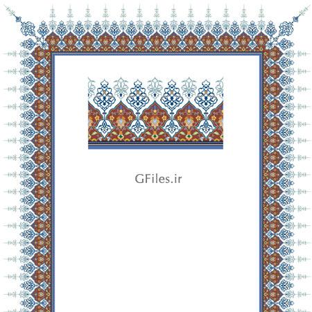 دانلود فایل لایه باز وکتور تذهیبی با امکان بزرگنمایی برای کادر قرآنی