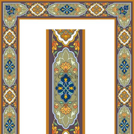 دانلود طراحی مستطیلی لایه باز تذهیبی ارائه شده با دو فرمت ai و eps