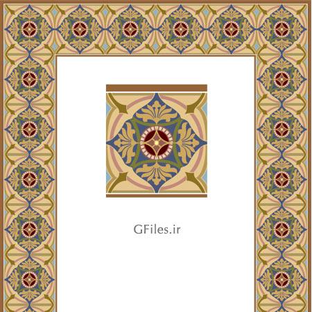 دانلود فایل تذهیبی برای طراحی مذهبی وکتوری با دو فرمت ai و eps