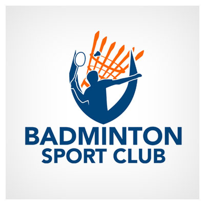 دانلود فایل وکتوری لوگو مناسب برای باشگاه های ورزشی بدمینتون قابل ویرایش در نرم افزار ادوب ایلستریتور