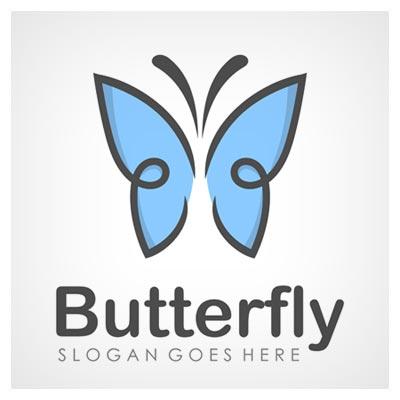 دانلود فایل تصویری به شکل پروانه آبی بزرگ به مفهوم برند پروانه ارائه شده با دو فرمت ai و eps