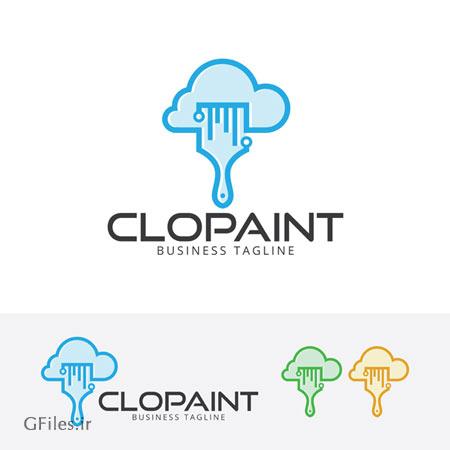 دانلود فایل وکتوری با لوگو ابر و نقاشی (رنگ) قابل اجرا در کلیه نرم افزارهای گرافیکی