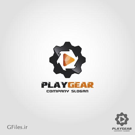 دانلود فایل وکتوری لوگو با تصویر چرخ دنده ارائه شده با دو فرمت ai و eps