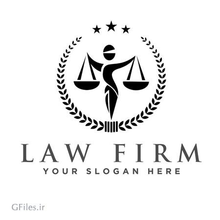 دانلود فایل لوگو مانند برای شرکت حقوقی به صورت ترازو عدالت با دو فرمت ai و eps