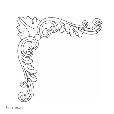 طرح گل و بوته مناسب برای گوشه جهت برش لیزر و cnc