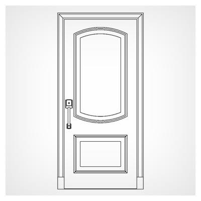 طرح ساده مناسب جهت درب چوبی یا فلزی جهت برش لیزر یا cnc