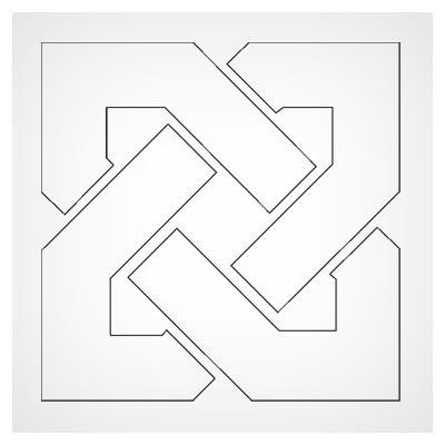 دانلود طرح cdr و dxf المان تزئینی مربعی مناسب جهت برشکاری لیزری یا cnc