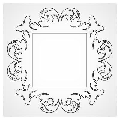 طرح قاب ، حاشیه و فریم جهت آیینه یا قاب عکس با دو فرمت cdr و dxf