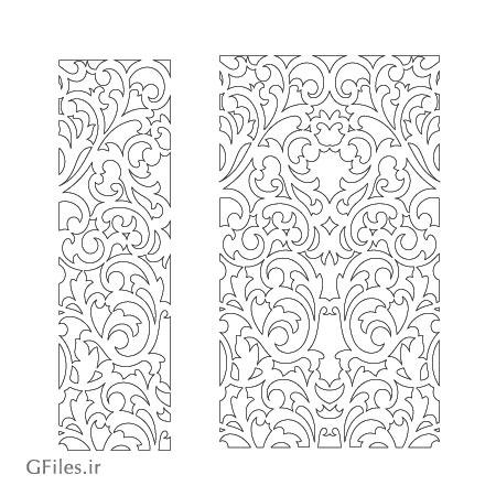 طرح زیبای پس زمینه مشبک مناسب برای دیوار جداکننده (برش لیزر یا حک و cnc)