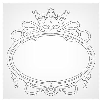 طرح بیضی قاب آیینه یا قاب عکس جهت برشکاری لیزر یا cnc