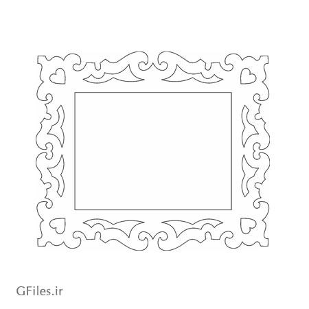 طرح فریم و قاب جهت برش لیزر یا cnc و ساخت قاب آیینه