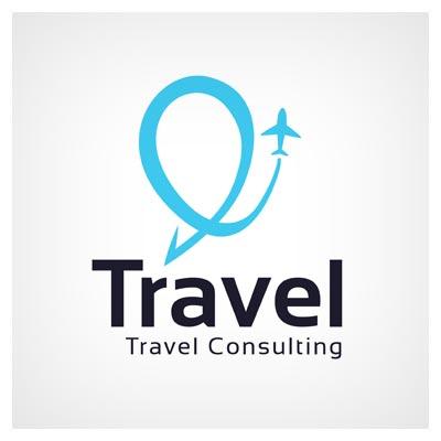 دانلود فایل وکتور لوگو تراول به معنی مسافرت با نماد هواپیما ارائه شده با دو فرمت ai و eps