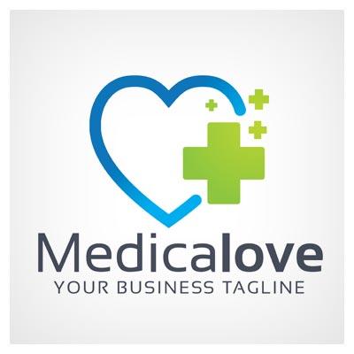 دانلود طرح لوگو هنرمندانه وکتوری برند علاقه ی پزشکی، قابل اجرا در کلیه نرم افزارهای گرافیکی