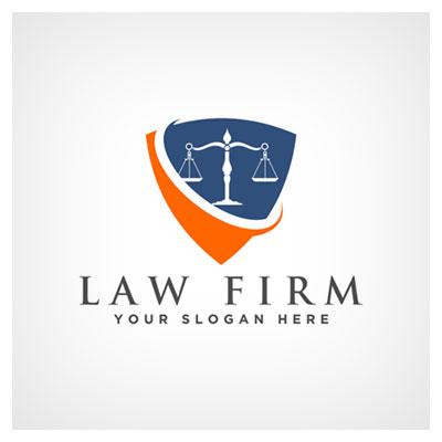 دانلود طرح وکتوری لوگو به شکل ترازوی عدالت برای برند شرکت قانونی حقوقی با دو فرمت ai و eps