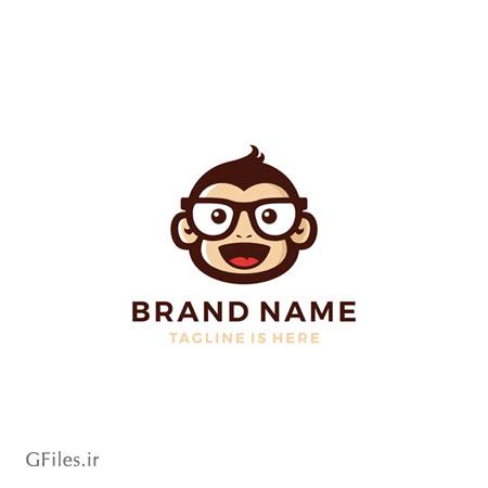 دانلود فایل وکتور لوگو چهره میمون عینکی خندان قابل اجرا در کلیه نرم افزارهای گرافیکی