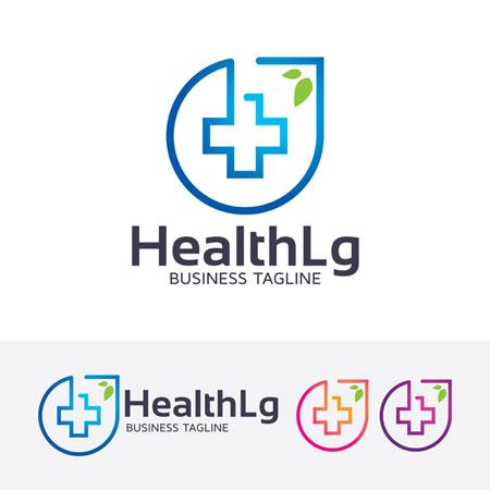 دانلود طرح گرافیکی لوگو سلامتی با تصویر علامت مثبت وکتوری ارائه شده با دو فرمت ai و eps