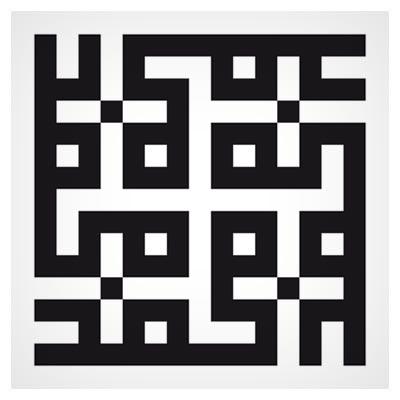 فایل لایه باز وکتوری خط کوفی با کلمه محمد بصورت مربعی مناسب برای کاشی ، لیزر و چاپ