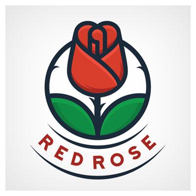 دانلود طرح لایه باز لوگو مفهومی گل رز قرمز قابل اجرا در کلیه نرم افزارهای گرافیکی با دو فرمت ai و eps