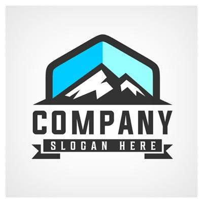 دانلود فایل لایه باز کمپانی لوگو با تصویر قله مرتفع کوه قابل اجرا در کلیه نرم افزارهای گرافیکی