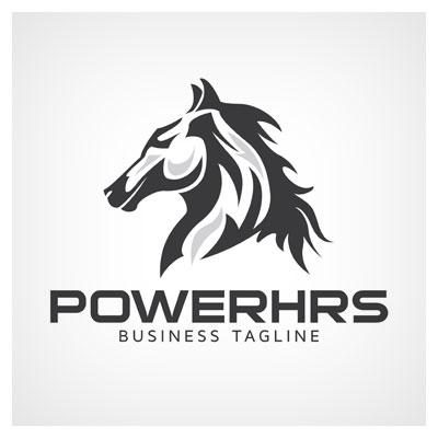 دانلود طرح وکتوری لوگو توان و قدرت اسب به صورت گرافیکی ارائه شده با دو فرمت ai و eps