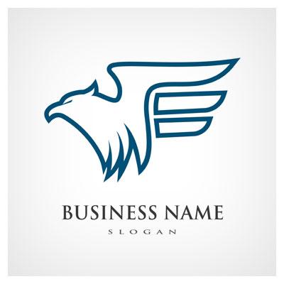 دانلود فایل لوگو با طرح عقاب بصورت خطی ، قابل اجرا در کلیه نرم افزارهای گرافیکی