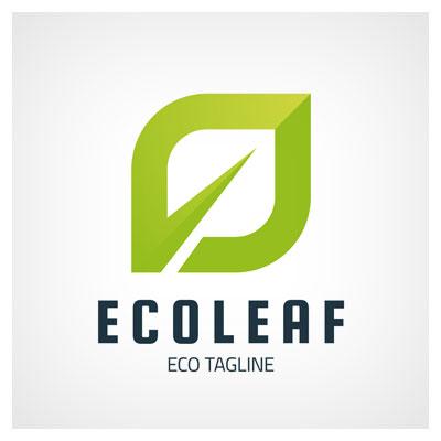 دانلود فایل تصویری به شکل برگ سبز برای لوگو وکتوری برند برگ اکو ارائه شده با دو فرمت ai و eps