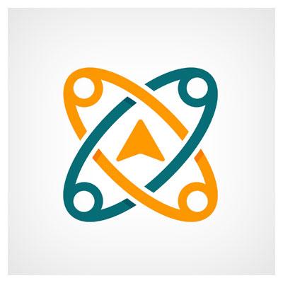 دانلود طرح تصویری گرافیکی لایه باز دو سنجاق خلاقانه در ترکیب با نماد پیامرسان با دو فرمت ai و eps